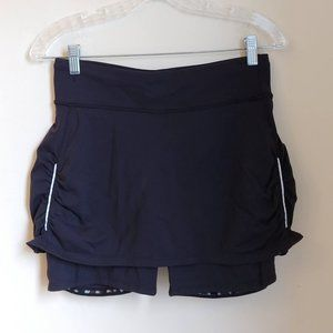 Athleta Black Contender Built in Shorts Skort S